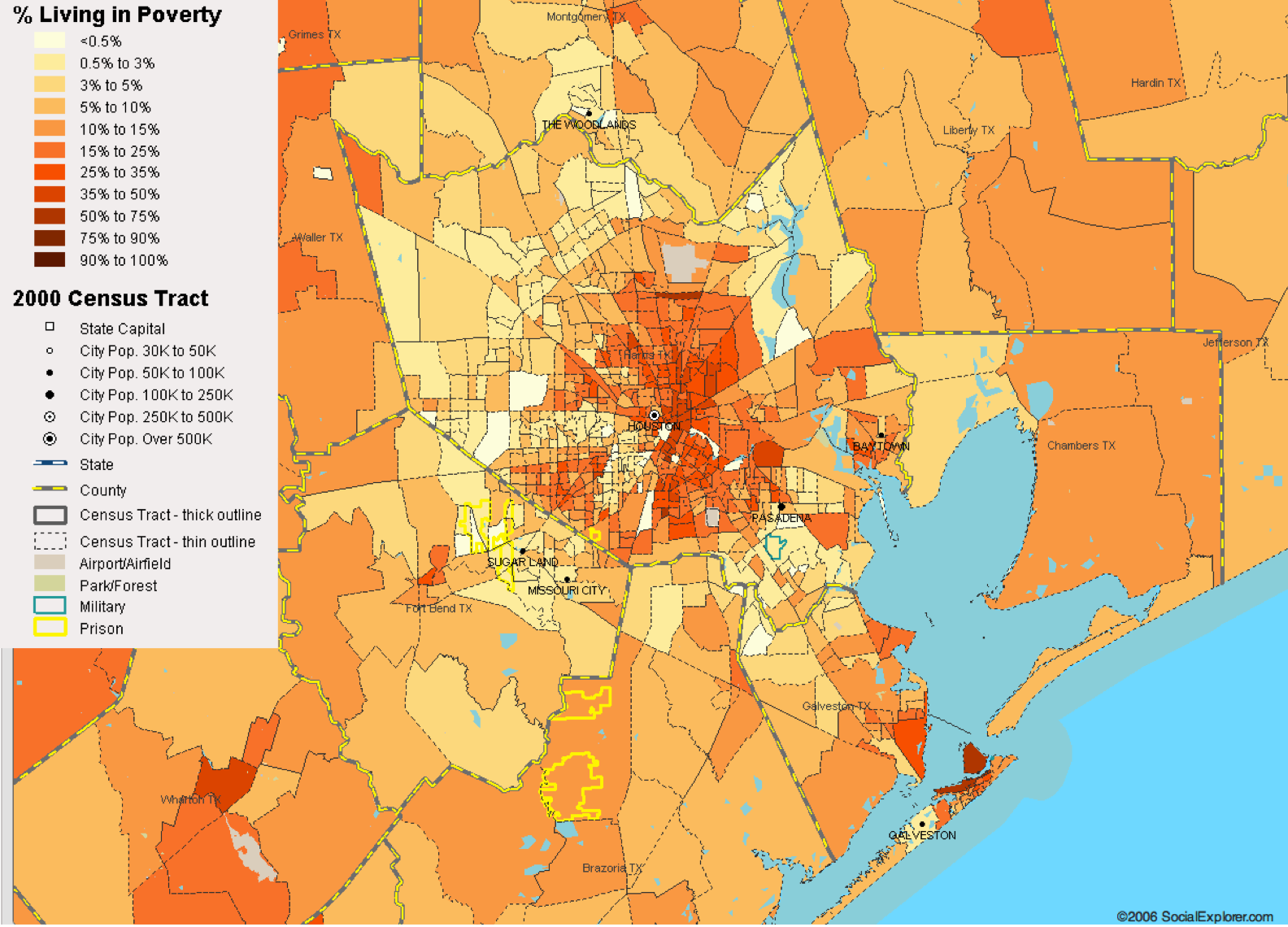 Houston, TX Poverty Map — Visualizing Economics