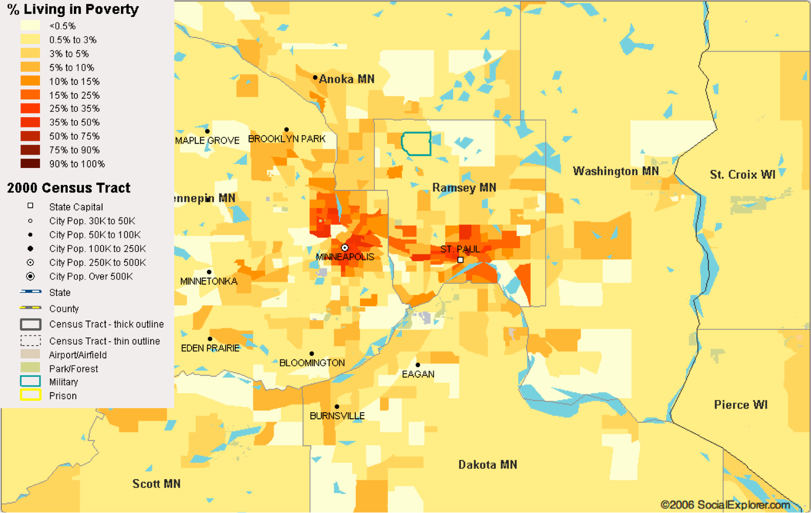 Minneapolis-St. Paul's Percent in Poverty